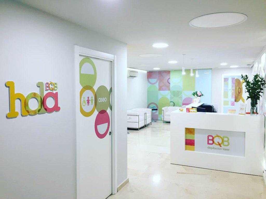 Hall de centro de estetica, BQB depilacion laser